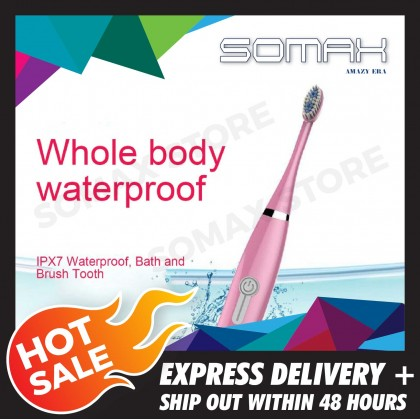 Somax Store !! Electric Toothbrush Male And Female Adult Household Non-Rechargeable Soft Hair Automatic Waterproof Sonic