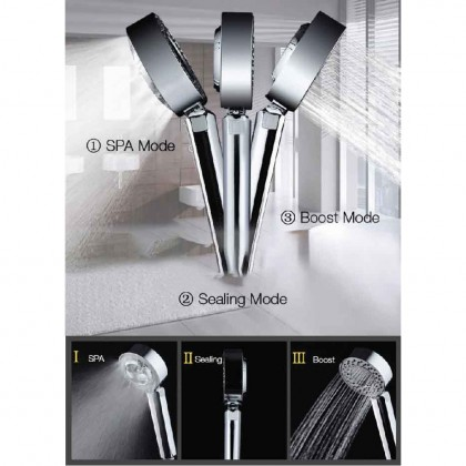 Somax Store !! Japan Double Sided Shower Head+ Spa Bath - High Pressure - Water Conservation Saving