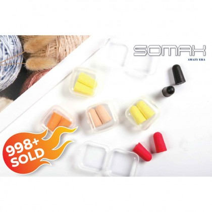 SOMAX Soft Foam Ear Plugs Travel Sleep Noise Prevention Earplugs Noise Reduction For Travel Sleeping Random Color