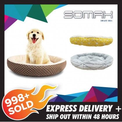 SOMAX Round Shape Comfortable Dog Sofa Bed Pet House Waterproof Pet Nest For Dog , Cat