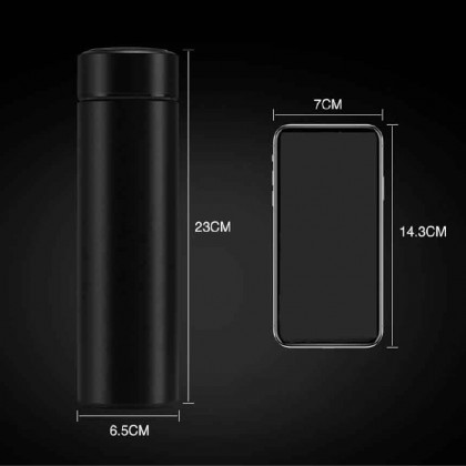 Somax Store !! 2020 New Smart Thermos Bottle 500ML Insulated Vacuum Flask Stainless Steel Water Bottle LED Touch Display Screen