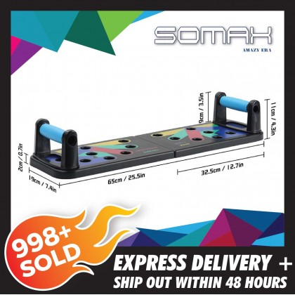 Somax Store !! 9 In 1 Push Exercise Rack In Body For Home Global Building Fitness Equipment Gym Workout For Men And Women