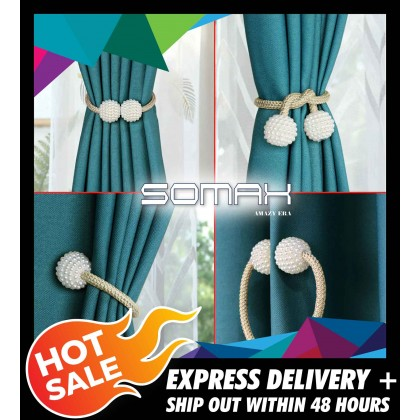 Somax Store !! 1pc Pearl Magnetic Curtain Clip Curtain Holders Tieback Buckle Clips Quality Hanging Ball Buckle Tie Back Curtain Accessories
